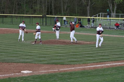 Quakers varsity baseball's final regular season game