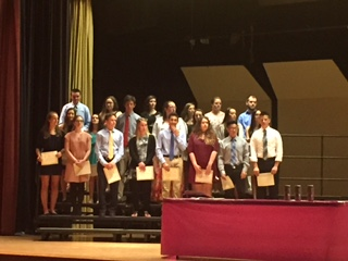 Foreign Language National Honor Society Induction at OPHS