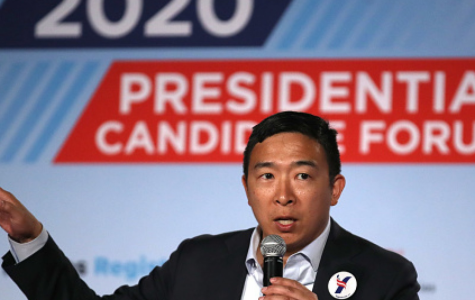 Andrew Yang Proposes Universal Basic Income in America