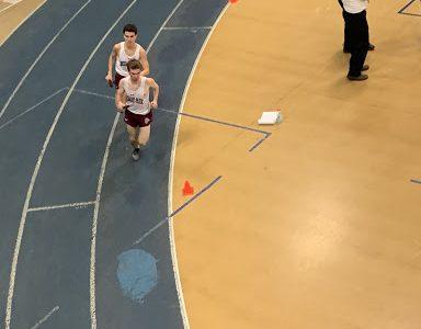 Jason Kincaid (front) and Jack Heraty leading the 4 x 8.